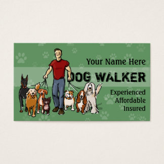 Dog Walker. Guy. Fully customizable business card