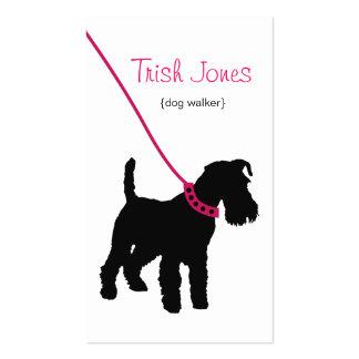 Dog Walker (hot pink) Business Card
