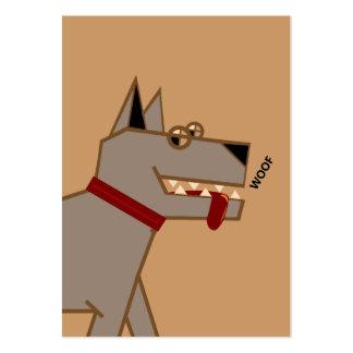 dog walker large business card