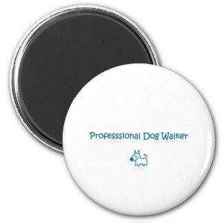 dog walker 2 inch round magnet