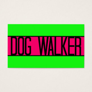Dog Walker Neon Green and Hot Pink Business Card