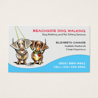 Dog Walker Pet Business Cool Carribean Business Card