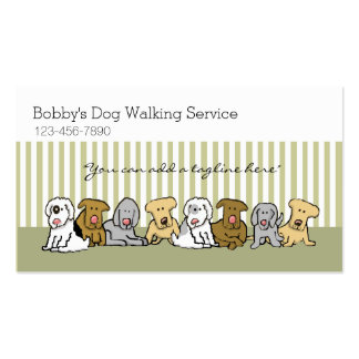 Dog Walker Pet Business Customizable Double-Sided Standard Business Cards (Pack Of 100)
