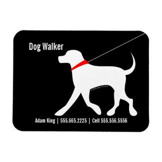 Dog Walker Pet Business Lab Modern Black Magnet