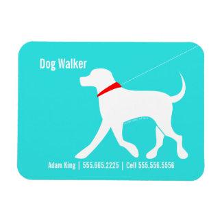 Dog Walker Pet Business Lab Modern Coastal Rectangular Photo Magnet