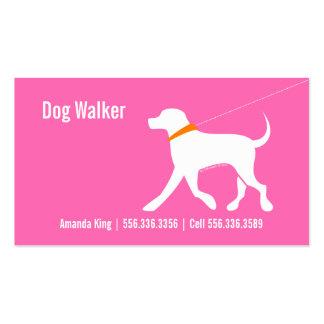 Dog Walker Pet Business Lab Modern Pink Business Card