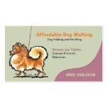 Dog Walker Pet Business Pomeranian Business Card