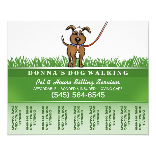 Dog Walking Flyers & Programs | Zazzle