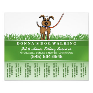 Dog Walker & Pet Sitting Tear Off Flyer 5.6 x 4.5