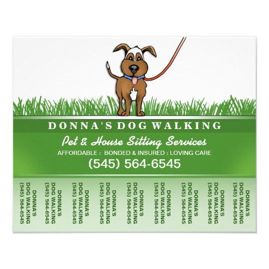 dog walker pet sitting tear off flyer 5 6 x 4 5 zazzle com