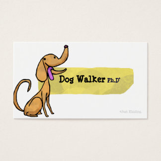 Dog Walker Ph.D Business Card
