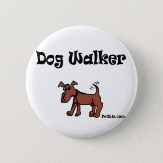 Dog Walker Pinback Button