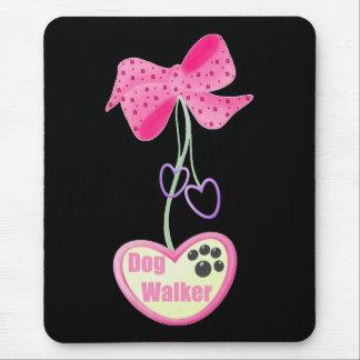 Dog Walker (pink dangle) Mouse Pad