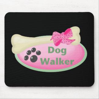 Dog Walker (pink oval) Mouse Pad