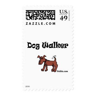 Dog Walker Postage Stamps