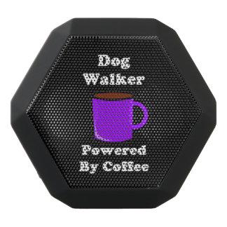 """Dog Walker"" Powered by Coffee Black Bluetooth Speaker"