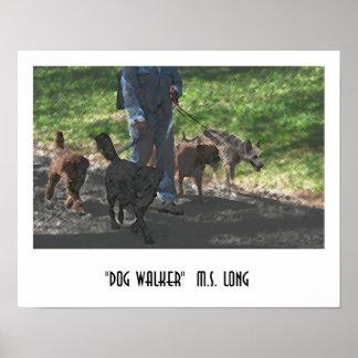 Dog Walker Print