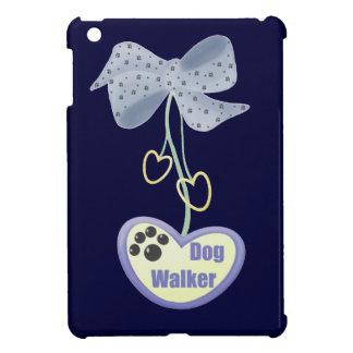 Dog Walker (purple dangle) iPad Mini Cover