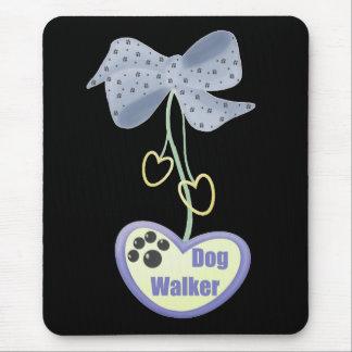 Dog Walker (purple dangle) Mouse Pad