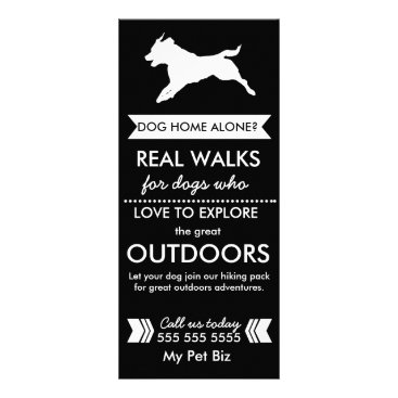 Professional Business Dog Walker Rack Card - Personalizable