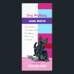 """Dog Walker Scottie Plaid Pet Business Marketing Rack Card<br><div class=""""desc"""">Promote your dog walking or other pet care business with professional,  clean and eye-catching rack cards. Harness the popularity of Andie&#39;s unique art and design style to draw clients to your business! Features ink and pencil Scottie artwork.</div>"""