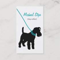 Dog Walker (teal) Business Card