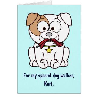 Dog Walker Thank You Card Name Customizable