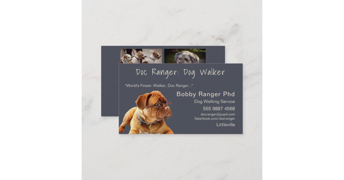 Dog Walker Trainer Friend Photo Template Business Card | Zazzle.com