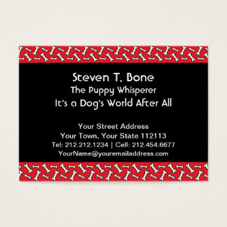Dog Walker, Veterinarian, Obedience Trainer Photo Business Card
