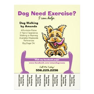 Dog Walker Walking Active Terrier Tear Sheet Custom Flyer