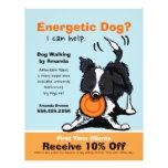 Dog Walker Walking Ad Coupon Border Collie Flyer