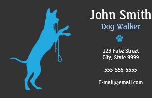 Dog walking business cards zazzle dog walkerwalking business card colourmoves