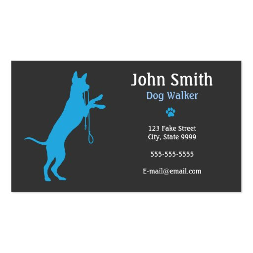 1000 dog walking business cards and dog walking business