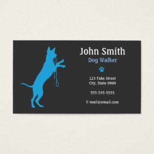 Dog walking business cards templates zazzle dog walkerwalking business card colourmoves