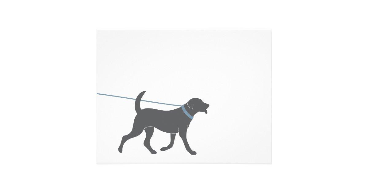 dog walking flyer template