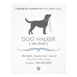 dog walking flyers programs zazzle. Black Bedroom Furniture Sets. Home Design Ideas