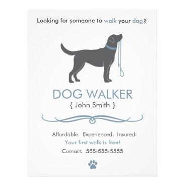 Professional Business Dog Walker/Walking Business Flyer Template
