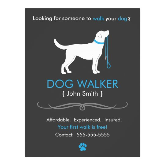 Dog walker walking business flyer template zazzle dog walker walking business flyer template pronofoot35fo Choice Image