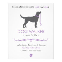 Dog Walker/Walking Business Flyer Template Small