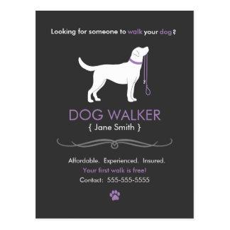 Dog Walker Walking Business Postcard Advertising