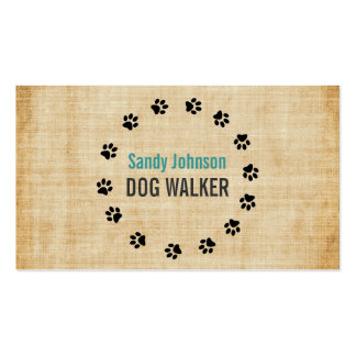 Dog Walker Walking Pet Sitting Services Business Business Card Template