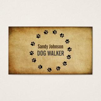 Dog Walker Walking Pet Sitting Services Business Business Card