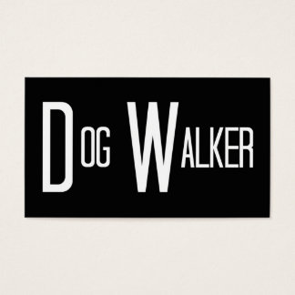 Dog Walker Word Business Card