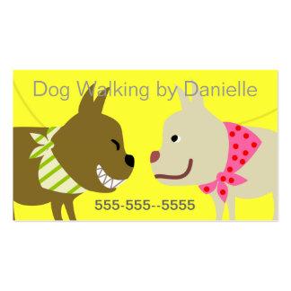 Dog Walker's Bandana Dogs Business Card