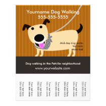 Dog Walker's flyer with tear-off tags
