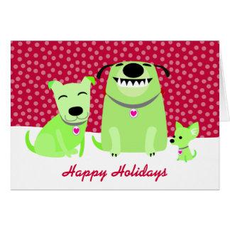 Dog Walker's Holiday Greetings Greeting Card