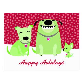 Dog Walker's Holiday Postcard