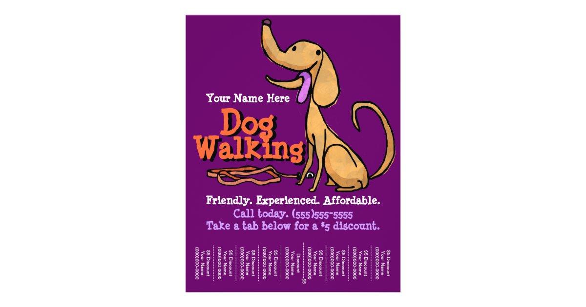 Dog Walking Advertising Promotional Flyer Zazzle Com