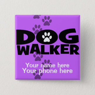 Dog Walking and Dog Walker promotion! Button