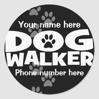 Dog Walking and Dog Walker promotion! Classic Round Sticker